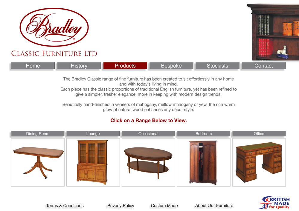 Bradley Classic Furniture Folkestone Kent Products